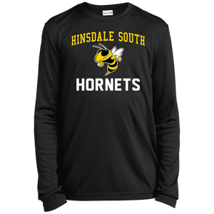 Hinsdale South Hornets Youth Long Sleeve Moisture-Wicking T-Shirt