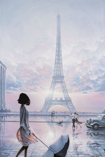 lost moment in Paris oil painting by Carm Dix