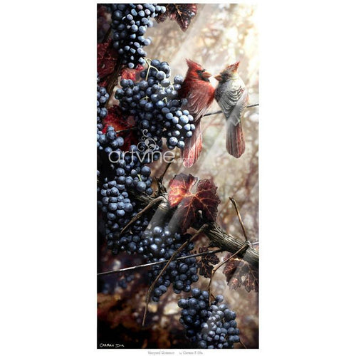 Vineyard Romance -Limited Edition art print by artist Carman Dix