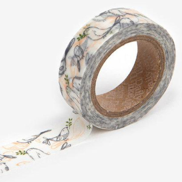 Washi Tape - 15mm - Murmur Bird