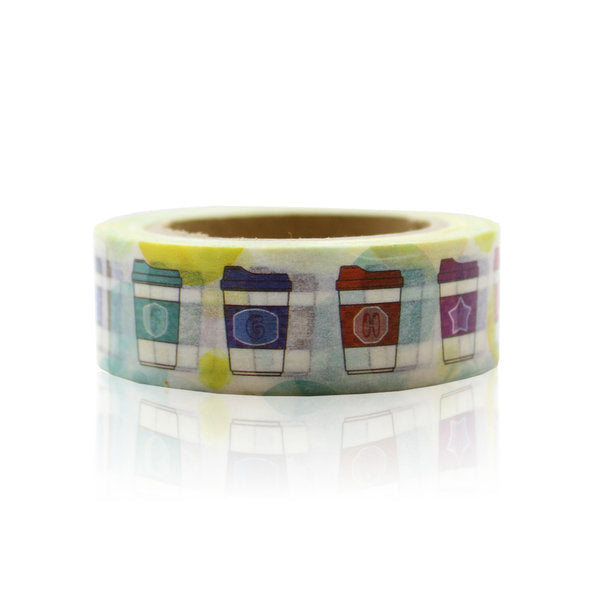 Washi Tape - 15mm - Coffee Cup