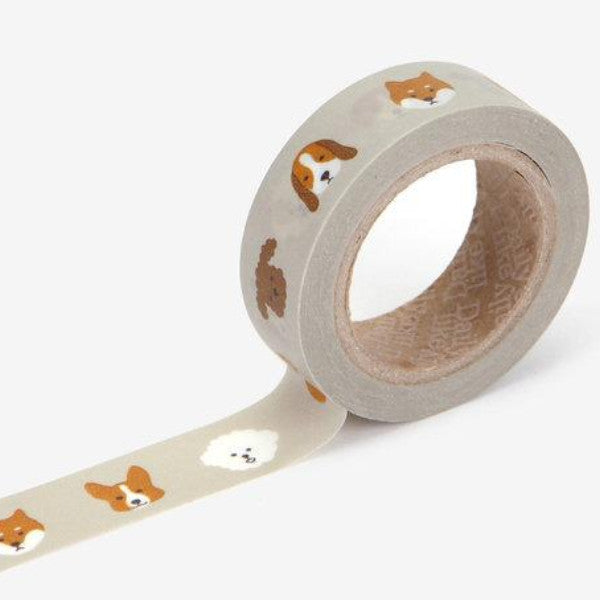 Washi Tape - 15mm - Puppy
