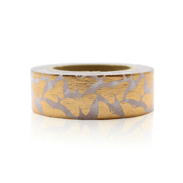 Washi Tape - 15mm - Copper Butterfly Foil