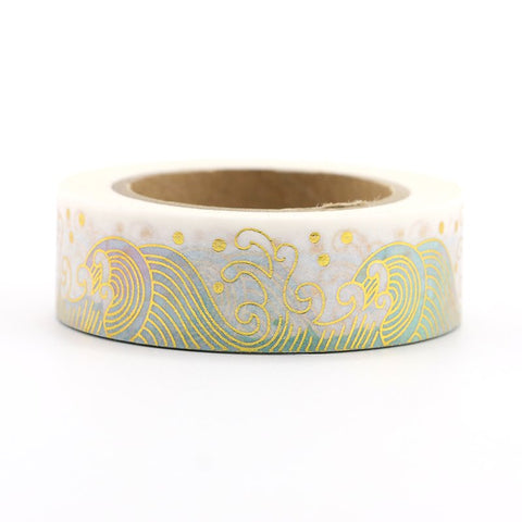 Washi Tape - 15mm - Big Wave Foil