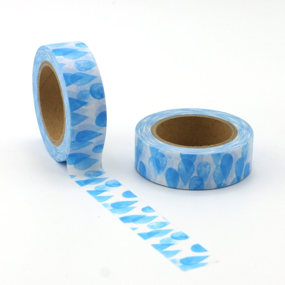 Washi Tape - 15mm - Blue Water Drops