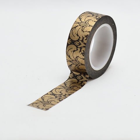 Washi Tape - 15mm - Copper Damask