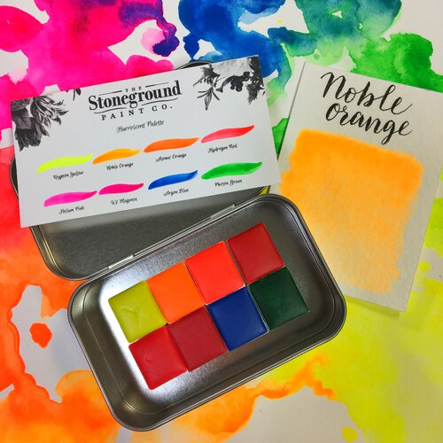 Stoneground Watercolours - LIMITED EDITION Fluorescent - Small Palette