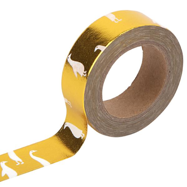 Washi Tape - 15mm - Goose Gold Foil