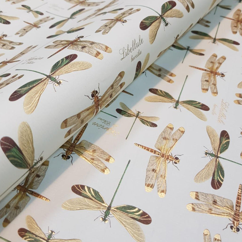 Gift Wrap - Dragonfly Gold Foil