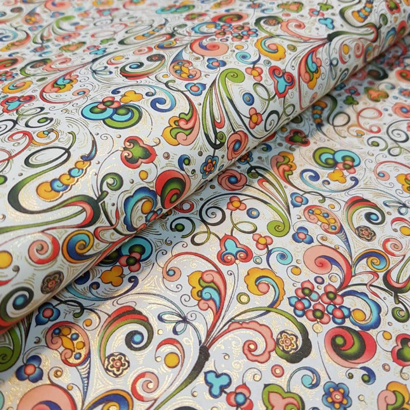 Gift Wrap - Art Nouveau Flowers - Multi Color