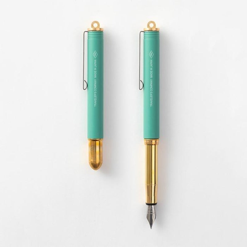 Traveler's Company Limited Edition Brass Fountain Pen - Factory Green