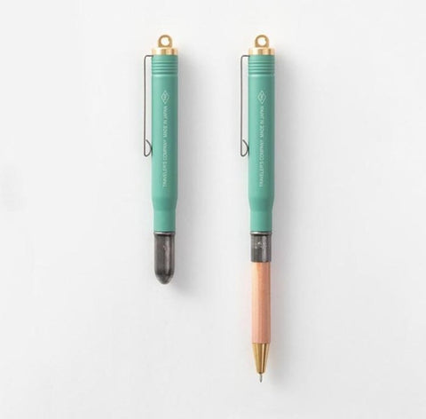 Traveler's Company Limited Edition Brass Rollerball Pen - Factory Green