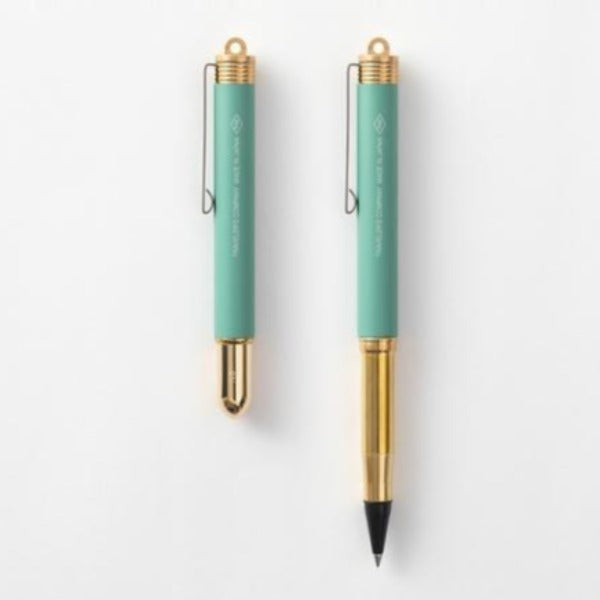 Traveler's Company Limited Edition Brass Ballpoint Pen - Factory Green