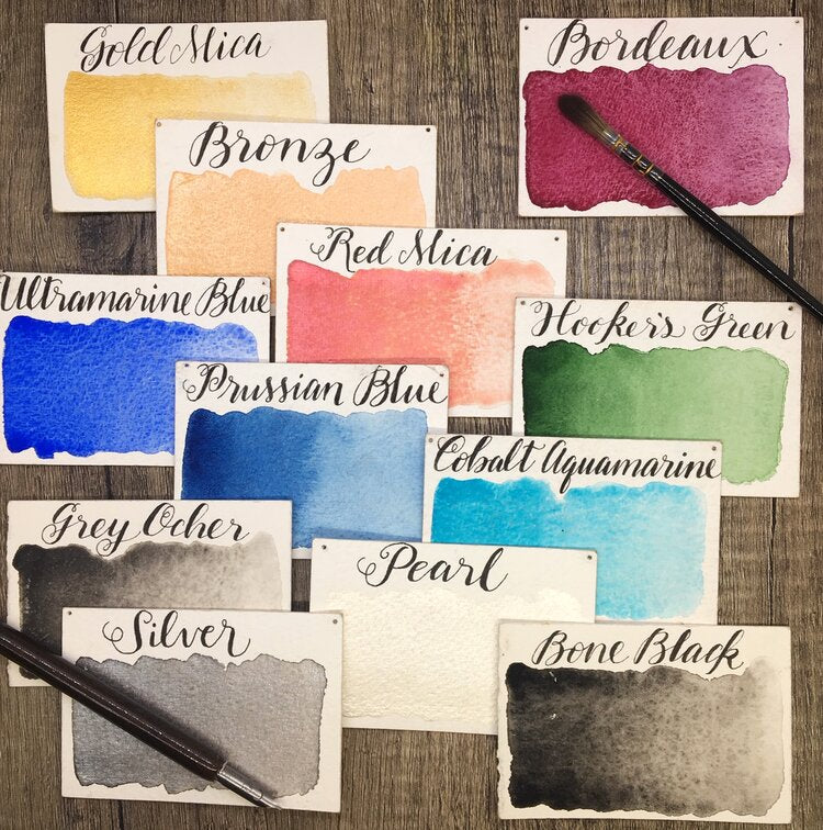 Stoneground Watercolours - Calligraphy - Large Palette