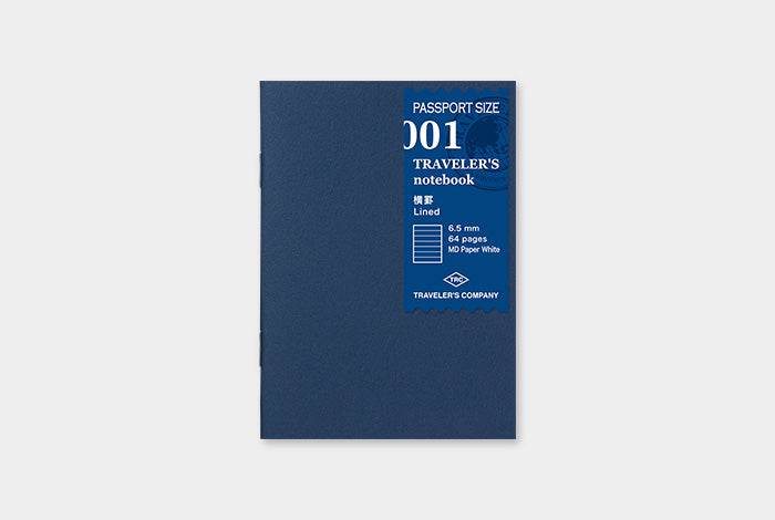 TN Traveler's Notebook Passport Size Refill - 001 - Lined