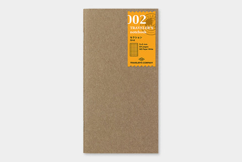 TN Traveler's Notebook Regular Size Refill - 002 - Grid