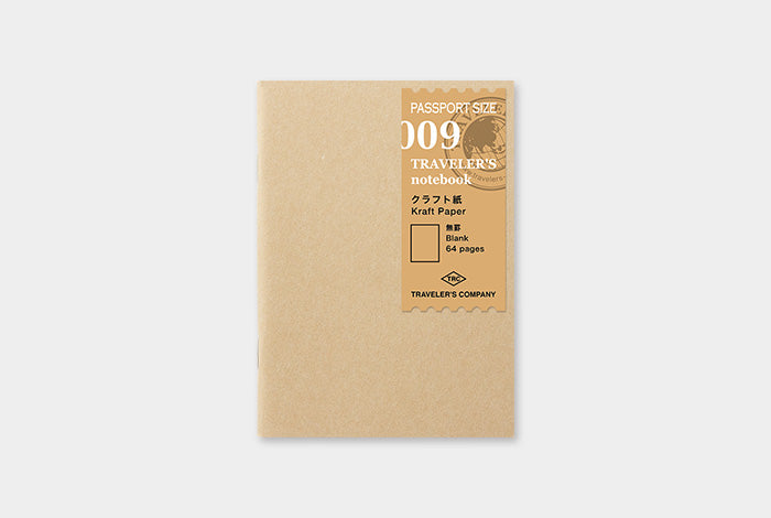 TN Traveler's Notebook Passport Size Refill - 009 - Kraft Paper