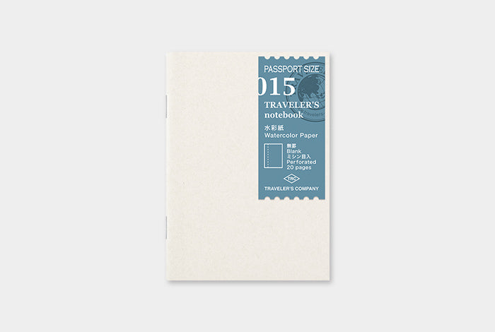 TN Traveler's Notebook Passport Size Refill - 015 - Watercolour Paper