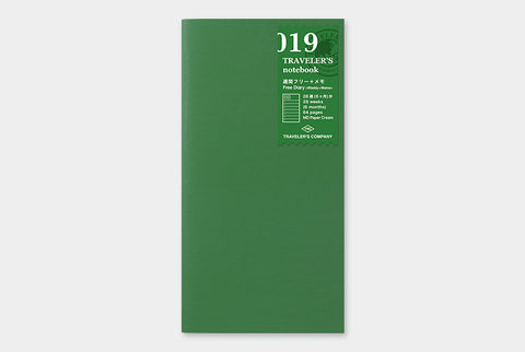 TN Traveler's Notebook Regular Size Refill - 019 - Free Diary (Weekly + Grid)
