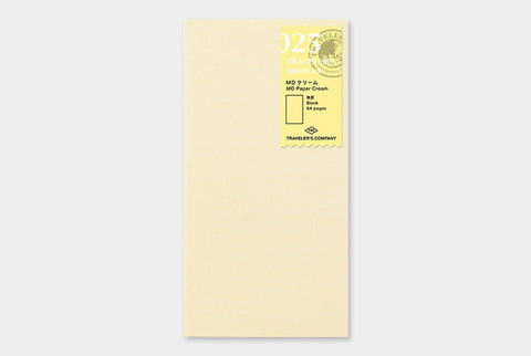 TN Traveler's Notebook Regular Size Refill - 025 - MD Cream Paper