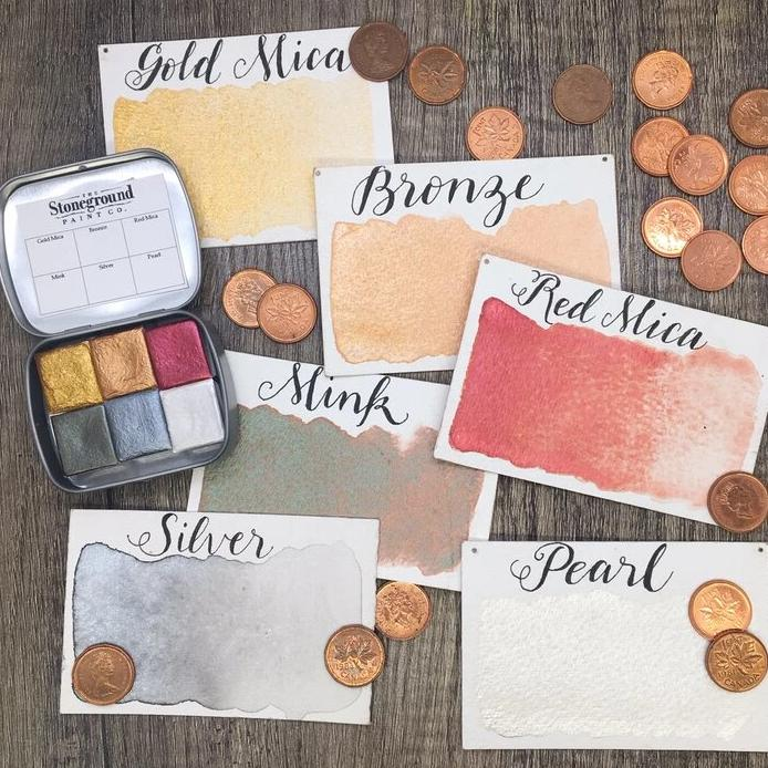 Stoneground Watercolours - Metallic - Small Palette