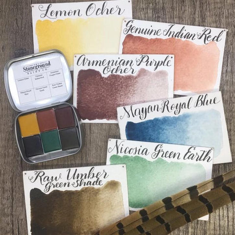 Stoneground Watercolours - #2 Earth (Prairie) - Small Palette