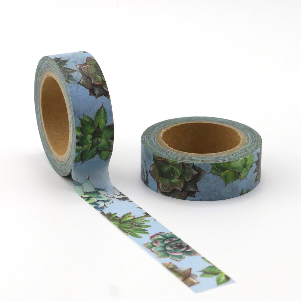 Washi Tape - 15mm - Succulent Blue
