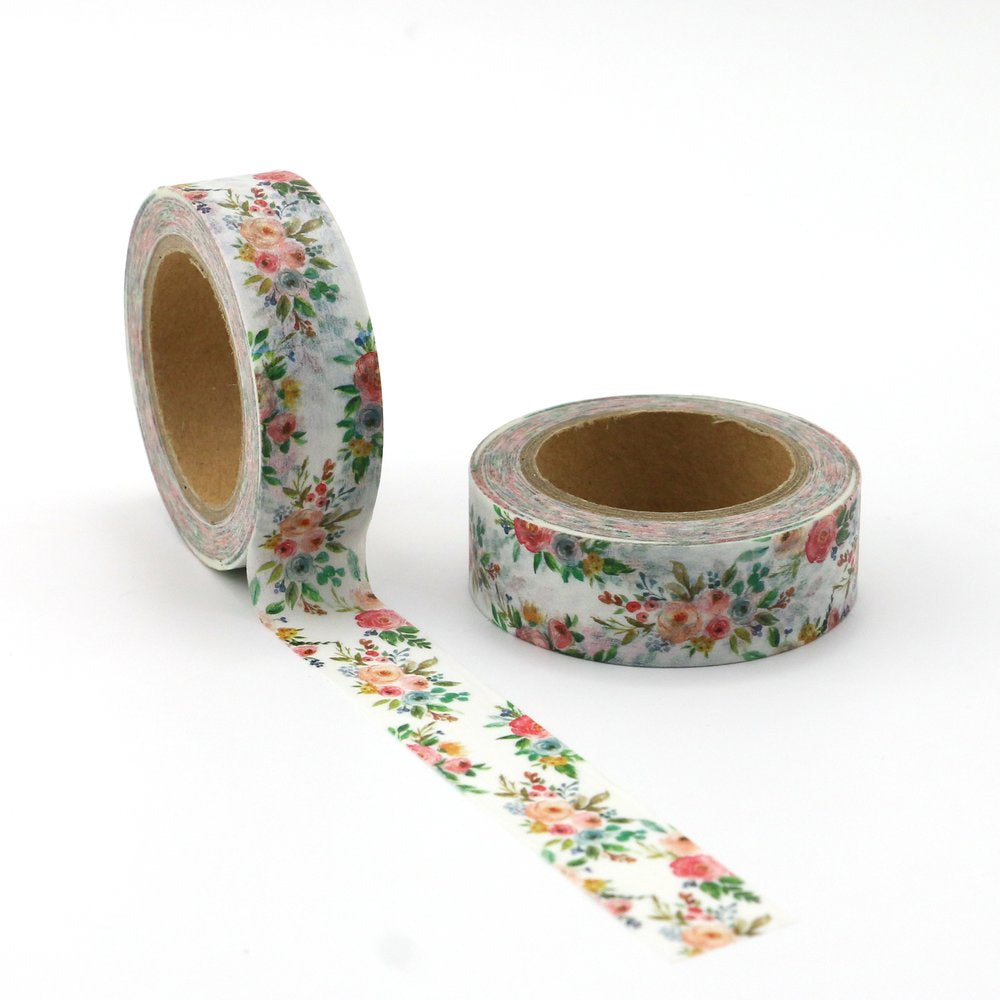 Washi Tape - 15mm - Watercolour Flower