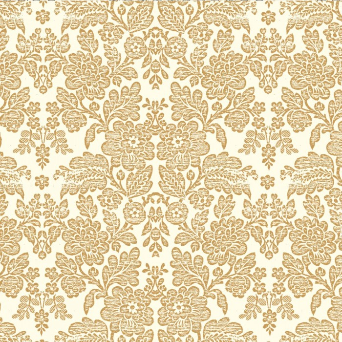 Gift Wrap - Brocade Flowers - Gold