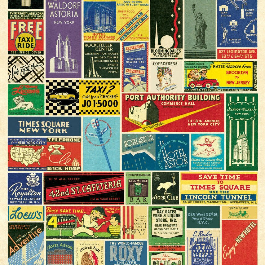 Gift Wrap - Cavallini Wrap - Vintage NYC Matchbooks