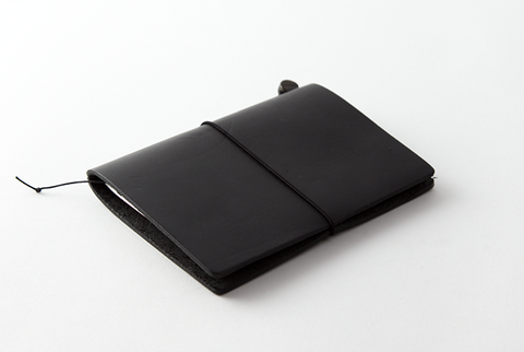 TN Travelers Notebook - Leather - Passport - BLACK