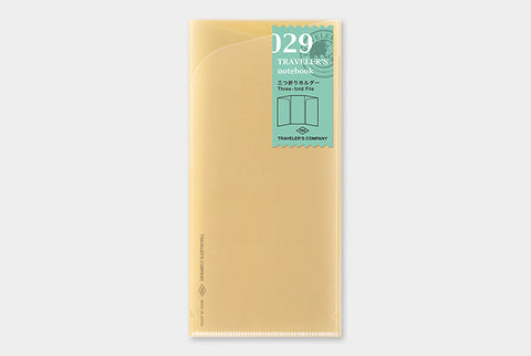 TN Traveler's Notebook Regular Size Refill - 029 - Three Fold File