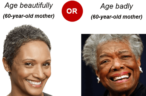 Aging beautiful vs aging badly