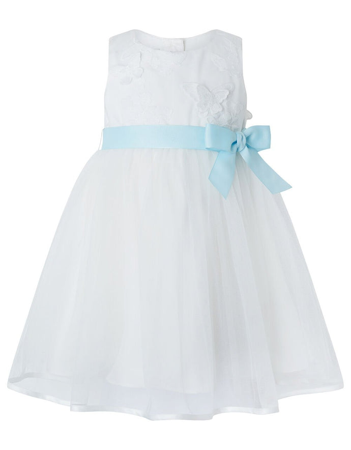 Monsoon Baby butterfly mesh occasion dress ivory - 2-3years