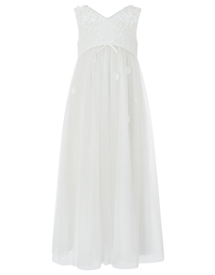 Monsoon Lilly occasion maxi dress ivory - 11 years