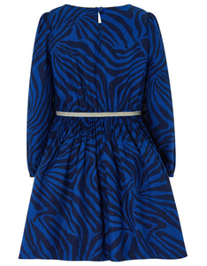 Monsoon Christie zebra dress blue - 4 years