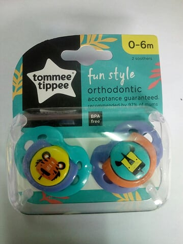 Tommee Tippee Orthodontic Fun Style Soothers 2pk