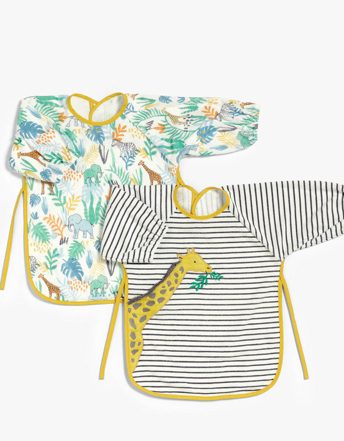 Baby Classic Terry Bibs, Pack of 2, Giraffe/Multi