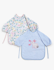 Baby Leckford Bunny Classic Terry Bibs, Pack of 2