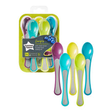 Load image into Gallery viewer, Tommee Tippee Explora Soft Tip Weaning Spoons 7m+, 5 Spoons