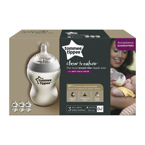 Tommee Tippee Closer to Nature Baby Bottles  3pk
