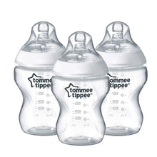 Load image into Gallery viewer, Tommee Tippee Closer to Nature Baby Bottles  3pk