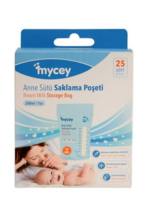 Mycey Milk Storage Bags 200ml, 25 pcs
