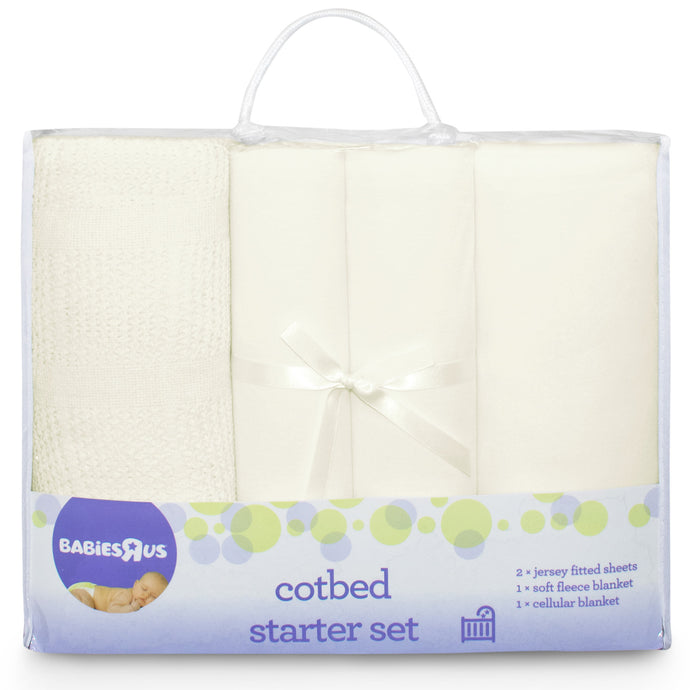 Babies RUs Mothercare 4 Piece Cot Bed Starter Set - Cream