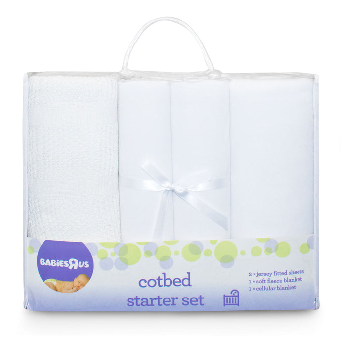 Babies RUs Mothercare 4 Piece Cot Bed Starter Set - White