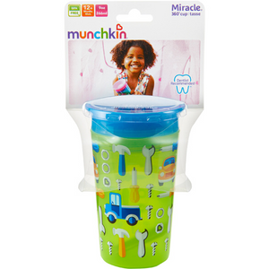 Munchkin Miracle 360 Deco Sippy Cup 266ml -Green Car