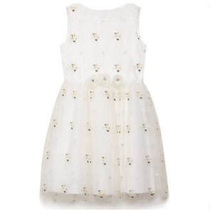 Yumi Girls Daisy Prom Dress - White