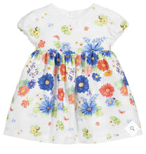 Load image into Gallery viewer, Baby Girls White Cotton Dress