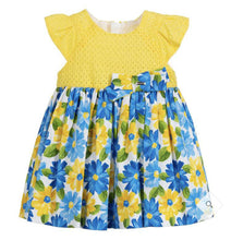Load image into Gallery viewer, Yellow & Blue Cotton Dress