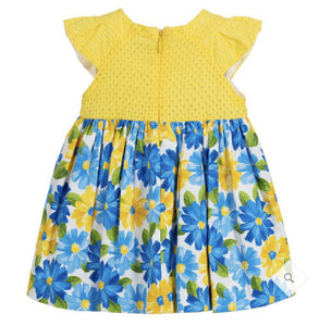 Yellow & Blue Cotton Dress